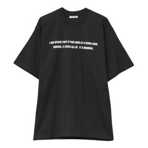 CLANE HOMME 通販  クラネオム LOGO T/S  ロゴ プリント Tシャツ BLACK ブラック 2019年秋冬新作|charger