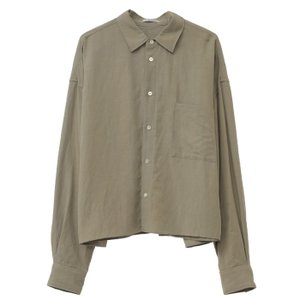 CLANE HOMME 通販  クラネオム WIDE SHIRT ワイドシャツ GREEN グリーン 2019年秋冬新作|charger