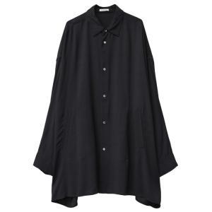 CLANE HOMME 通販  クラネオム OVER SIZE SHIRT オーバーサイズシャツ BLACK ブラック 2019年秋冬新作|charger