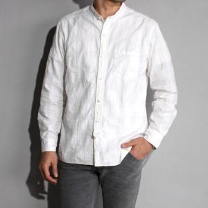 サージュデクレ シャツ SAGE DE CRET ドビーチェック スタンドカラーシャツ OFF WHITE オフホワイト 2019春夏新作|charger
