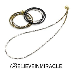 BELIEVEINMIRACLE,ビリーブインミラクル,METAL BZ NECKLACE&BRACE&ANKLET,3WAYメタルビーズネックレス,ブレスレット,アンクレット(3色展開),通販取扱い|charger