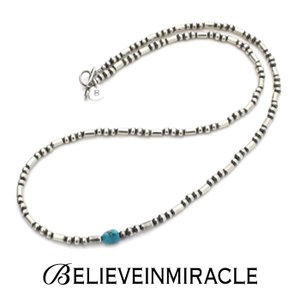BELIEVEINMIRACLE,ビリーブインミラクル,SILVER BZ NECKLACE,シルバービーズネックレス,ブレスレット,2WAY ,silver 925,ターコイズ,通販|charger