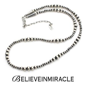 BELIEVEINMIRACLE,ビリーブインミラクル,SILVER BZ NECKLACE VINTAGE,シルバーナロービーズ ロングネックレス,ブレスレット,2WAY,silver 925,ヴィンテージ,通販|charger