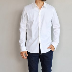 wjk シャツ ダブルジェイケイ スウェッターズ シャツ ホワイト sweater's shirts white 2019春夏新作 charger