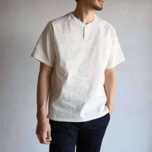 wjk シャツ ダブルジェイケイ ヘンリーネック シャツ ホワイト henley neck shirt White 2019春夏新作 charger