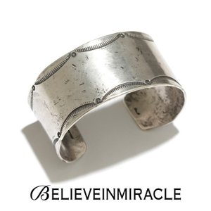 BELIEVE IN MIRACLE ビリーブインミラクル WIDE BANGLE  LEAF  SILVER 925 ワイドバングル リーフ シルバー ブレスレット|charger