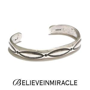BELIEVE IN MIRACLE ビリーブインミラクル ROUND BANGLE LEAF SILVER925 ラウンド バングル リーフ シルバー ブレスレット|charger