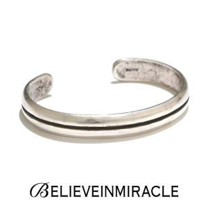 BELIEVE IN MIRACLE ビリーブインミラクル ROUND BANGLE  LINE SILVER925 ラウンド バングル ライン シルバー ブレスレット|charger