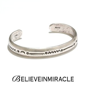 BELIEVE IN MIRACLE ビリーブインミラクル ROUND BANGLE  HEART RATE SILVER925  ラウンドバングル ハートレート (心拍数) シルバー ブレスレット|charger
