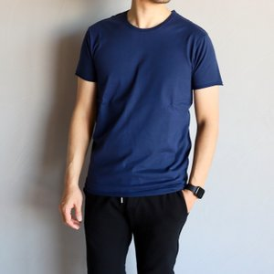SALE 60%OFF wjk Tシャツ ダブルジェイケイ カットオフ クルーネックTシャツ 2-PLY CUT-OFF CREW-NECK S/S TEE ネイビー NAVY 2020春夏新作|charger