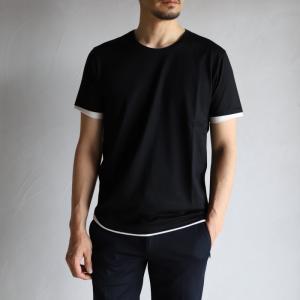 wjk Tシャツ ダブルジェイケイ レイヤード カットソー ブラック ホワイト sweater's cut&sewn Black White 2019春夏新作 charger