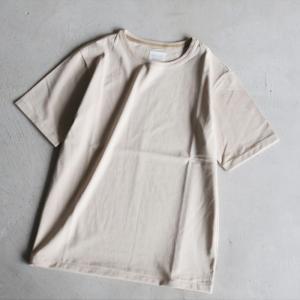 クロ カットソー KURO クルーネック Tシャツ PARALLELED YARN HIGH GAUGE CREW NECK TEE ベージュ 2019春夏新作|charger