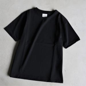 クロ カットソー KURO クルーネック Tシャツ PARALLELED YARN HIGH GAUGE CREW NECK TEE ブラック 2019春夏新作|charger