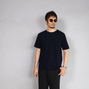 クロ カットソー KURO クルーネック Tシャツ PARALLELED YARN HIGH GAUGE CREW NECK TEE ネイビー 2019春夏新作|charger