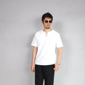 クロ カットソー KURO スリットネック Tシャツ PARALLELED YARN HIGH GAUGE SLIT NECK TEE オフホワイト 2019春夏新作|charger