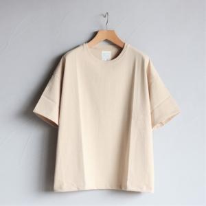 クロ カットソー KURO ビッグ Tシャツ PARALLELED YARN HIGH GAUGE BIG TEE ベージュ 2019春夏新作|charger
