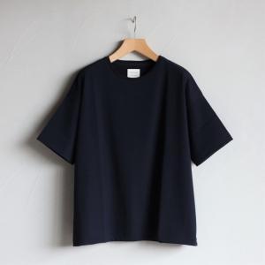 クロ カットソー KURO ビッグ Tシャツ PARALLELED YARN HIGH GAUGE BIG TEE ネイビー 2019春夏新作|charger