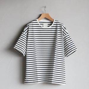 クロ カットソー KURO ビッグ Tシャツ PARALLELED YARN HIGH GAUGE BIG TEE ボーダー 2019春夏新作|charger