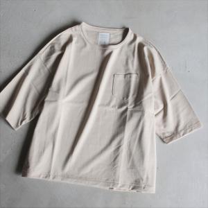 クロ Tシャツ KURO パラレルドヤーン S/S ポケットTシャツ PARALLELED YARN HIGH GAUGE S/S POCKET BIG TEE ベージュ BEIGE 2021春夏新作|charger