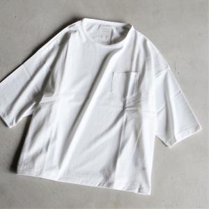クロ Tシャツ KURO パラレルドヤーン S/S ポケットTシャツ PARALLELED YARN HIGH GAUGE S/S POCKET BIG TEE   オフホワイト OFF WHITE 2021春夏新作|charger