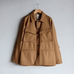 クロ ジャケット KURO ウールアーミージャケット Wool Army Jacket キャメル CAMEL 2020秋冬新作 charger