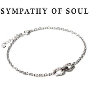 SYMPATHY OF SOUL シンパシーオブソウル Horseshoe Chain Anklet  Silver ホースシューチェーンアンクレット シルバー|charger