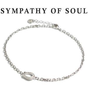 シンパシーオブソウル SYMPATHY OF SOUL Horseshoe Amulet Chain Anklet Silver CZ ホースシュー アミュレット チェーン アンクレット シルバー ジルコニア|charger