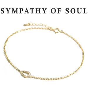 シンパシーオブソウル SYMPATHY OF SOUL Small Horseshoe Chain Anklet K18YG Diamond スモール ホースシュー アンクレット K18イエローゴールド ダイヤ|charger
