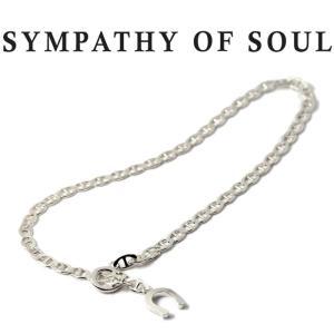 シンパシーオブソウル アンクレット SYMPATHY OF SOUL Mariner Curb Chain Anklet Silver マリナー カーブ チェーン アンクレット シルバー|charger