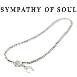 シンパシーオブソウル アンクレット SYMPATHY OF SOUL Venetian Box Chain Anklet Silver ベネチアン ボックス チェーン アンクレット シルバー|charger