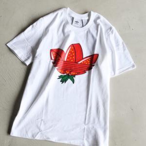 アディダスオリジナルス  ユニセックス Tシャツ adidas originals ストロベリー トレフォイル Tシャツ ホワイト WHITE 2021春夏新作|charger
