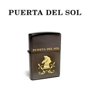 PUERTA DEL SOL プエルタデルソル zippo ゴールドナイト ブラック メンズ|charger