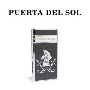 PUERTA DEL SOL プエルタデルソル ライター Jet Lighter  レオパード ナイト シルバー メンズ|charger