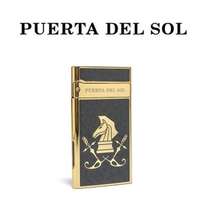 PUERTA DEL SOL プエルタデルソル ライター Jet Lighter  レオパード ナイト ゴールド メンズ|charger