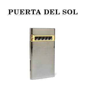 PUERTA DEL SOL プエルタデルソル ライター Jet Lighter  スタッズ シルバー メンズ|charger