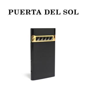 PUERTA DEL SOL プエルタデルソル ライター Jet Lighter  スタッズ ブラック メンズ|charger