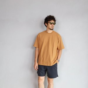 alvana カットソー アルヴァナ Tシャツ  ARCHIVE DYE ULTIMATE HARD WIDE TEE  OVER CAMEL 2019年夏秋モデル|charger