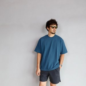 alvana カットソー アルヴァナ Tシャツ  ARCHIVE DYE ULTIMATE HARD WIDE TEE  OVER SMOKE NAVY 2019年夏秋モデル|charger