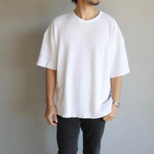 alvana トップス アルヴァナ SUVIN WAFFLE WIDE TEE ワッフル ワイド Tシャツ WHITE ホワイト 2020春夏新作 charger