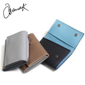 ショート 財布 当店別注 ANNAK ソファーレザー 3つ折 コンパクトウォレット サックス 3色展開|charger