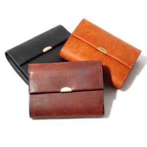 ANNAK アナック プエブロ レザー 3つ折りウォレット ユニセックス 財布 ブラック ブラウン ダークブラウン  3色展開|charger