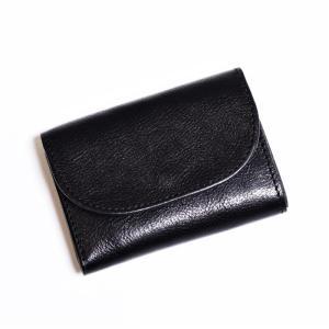 アナック アマンダオイル レザー 3つ折りウォレット ANNAK 財布 ユニセックス BLACK ブラック|charger