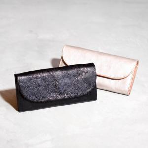 アナック アマンダオイル オールレザースリムロングウォレット ANNAK 長財布 財布  シルバー ブラック ユニセックス 2色展開|charger