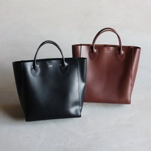 ANNAK バッグ アナック アメリカンオイルレザー手持ちトートバッグ(L) OIL LEATHER TOTE (L) ブラック/ダークブラウン 2色展開|charger