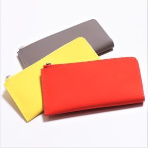 ANNAK アナック カラーレザー ロングウォレット ユニセックス グレー オレンジ イエロー 3色展開 charger