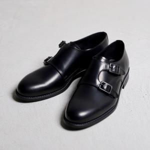 アルコレッタパドローネ 革靴  ARCOLLETTA PADRONE DOUBLE MONK SHOES ダブルモンクシューズ BLACK ブラック 2019秋冬新作|charger