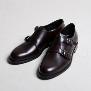 アルコレッタパドローネ 革靴  ARCOLLETTA PADRONE DOUBLE MONK SHOES ダブルモンクシューズ Dark Brown ダークブラウン 2019秋冬新作|charger