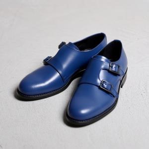 アルコレッタパドローネ 革靴  ARCOLLETTA PADRONE DOUBLE MONK SHOES ダブルモンクシューズ NAVY ネイビー 2019秋冬新作|charger