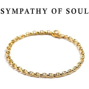 シンパシーオブソウル ブレスレット SYMPATHY OF SOUL スムースチェーンブレスレット K18YG Smooth Chain Bracelet K18YG|charger