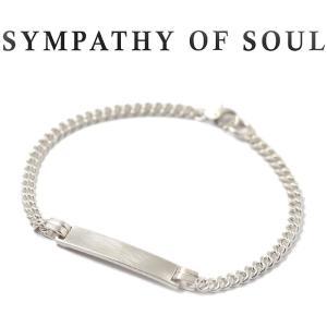 シンパシーオブソウル ブレスレット SYMPATHY OF SOUL ナローアイディーチェーンブレスレット シルバー Narrow ID Chain Bracelet  Silver|charger